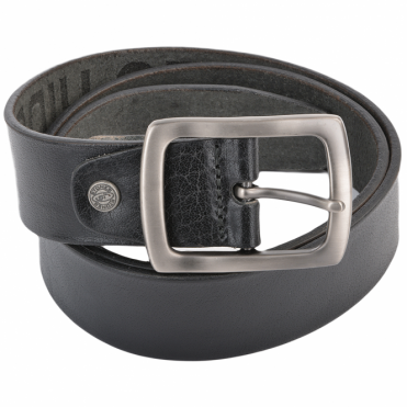 Leather Belt Black : Stones B4