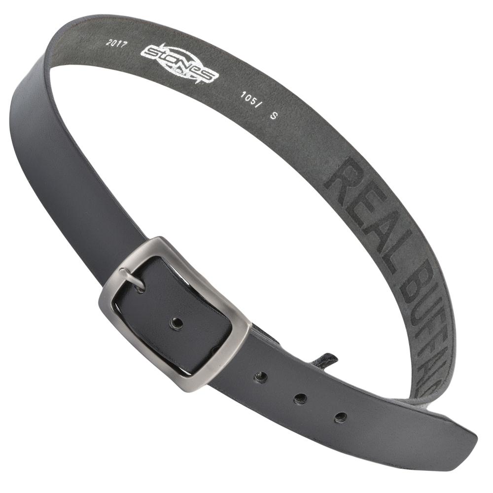 mens leather belt black stones b4 leather accessories