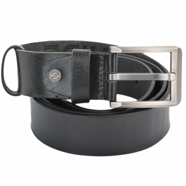 Leather Belt Black : Stones B8