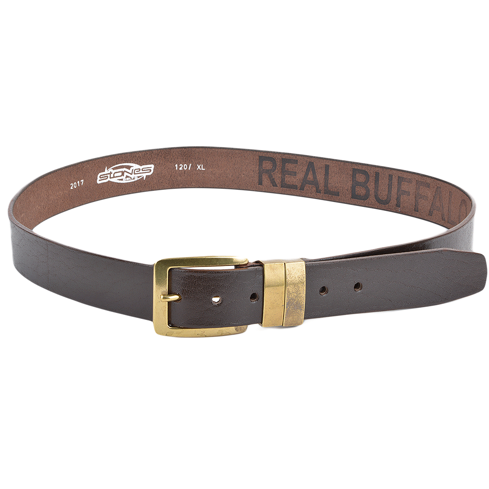 mens leather belt brown stones b6 leather accessories