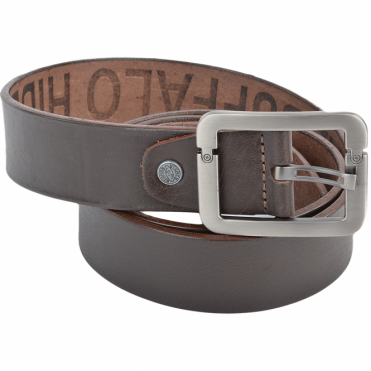 Leather Belt Brown : Stones B7