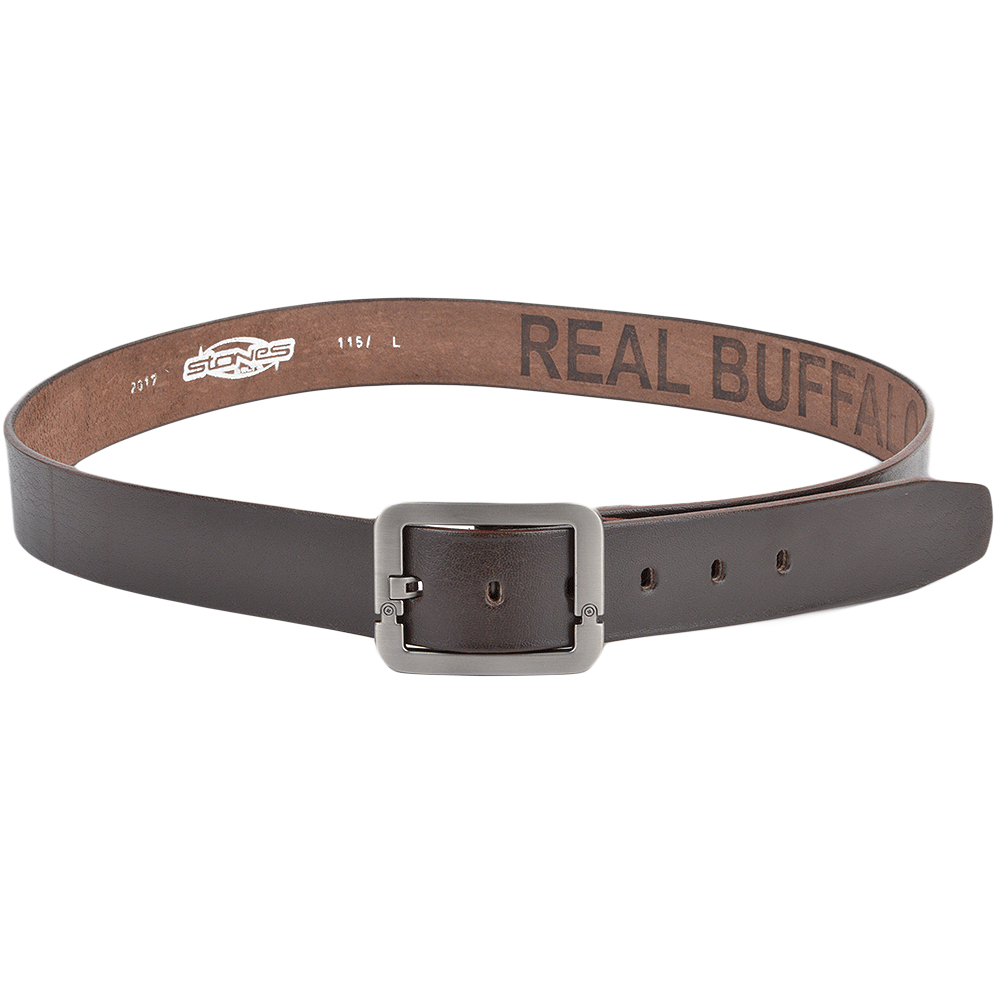 mens leather belt brown stones b7 leather accessories