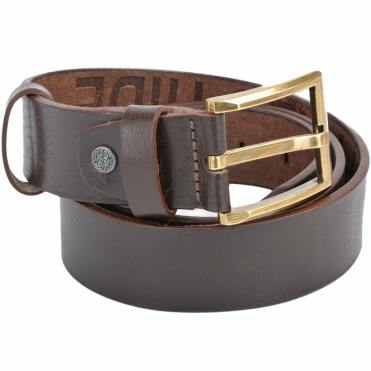 Leather Belt Brown : Stones B8