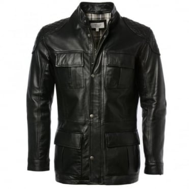 Leather Coat Black : Brontes