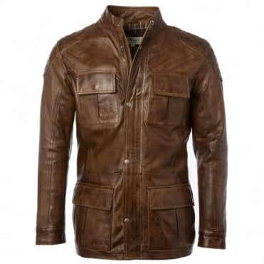 Leather Coat Timber : Brontes