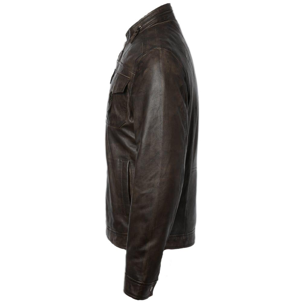 Mens Genuine Lambskin Leather Jacket Slim fit Biker Motorcycle Jacket P234