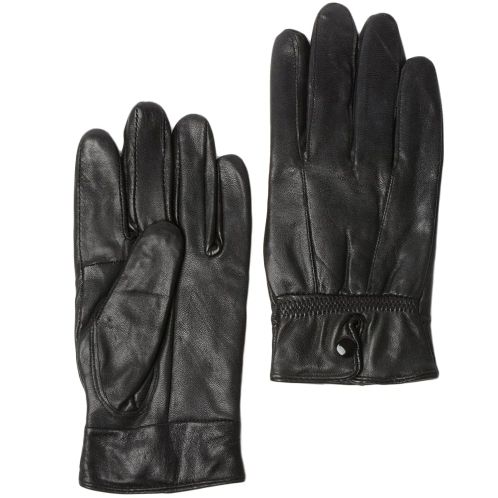 Womens Leather Gloves Black : Nc