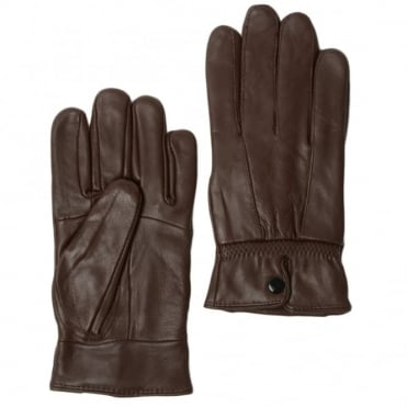 Womens Leather Gloves Brown : Nc