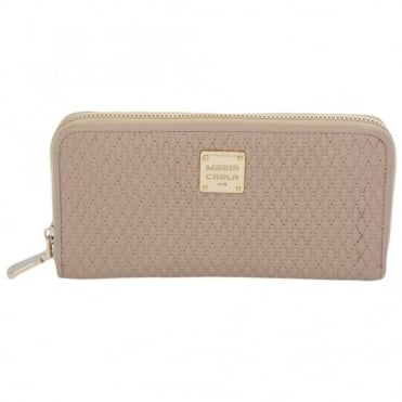 Leather Purse Beige/flesh : Qb0112