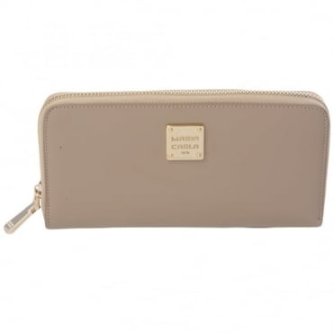 Leather Purse Beige : Qb0112