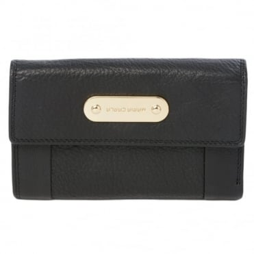 Leather Purse Black : 4007a