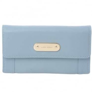 Leather Purse L/Blue : 1058a