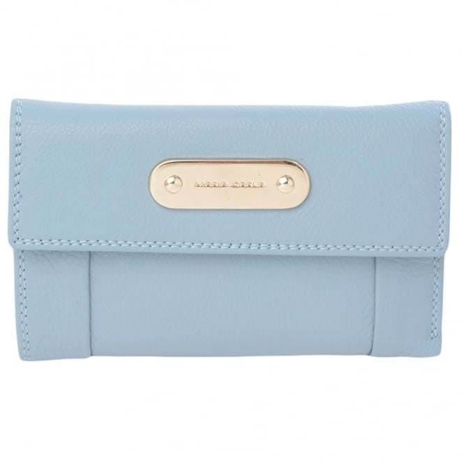 Maria Carla Leather Purse L/Blue : 4007a