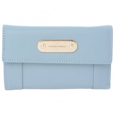 Leather Purse L/Blue : 4007a