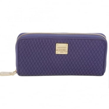Leather Purse Purple : Qb0112