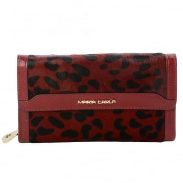 Leather Purse Red : 1058