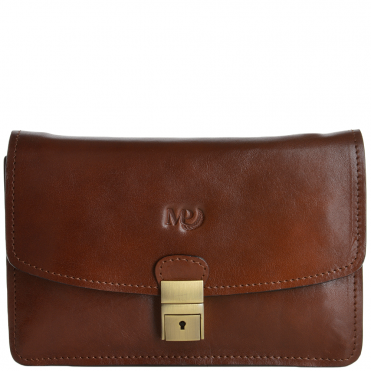 Marta Ponti Medium Italian Leather Clutch Bag Bruno - 3120440