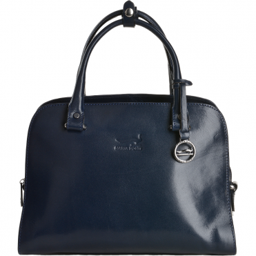 Medium Italian Leather Handbag Blue - 8105972