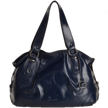 Marta Ponti Medium Italian Leather Handbag Blue - 8106002