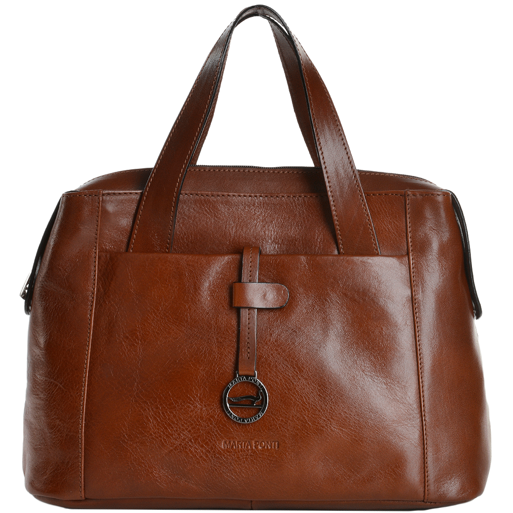 a6fbe75b03 Medium Italian Leather Handbag Cognac - 8106119