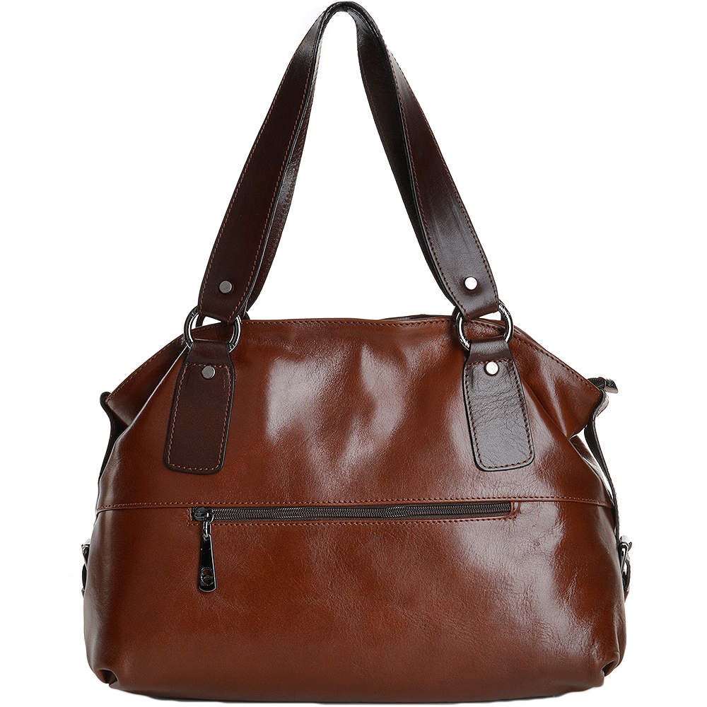 e6a81cd1e7d MARTA PONTI arta Ponti Medium Italian Leather Handbag Cognac brn - 8106002