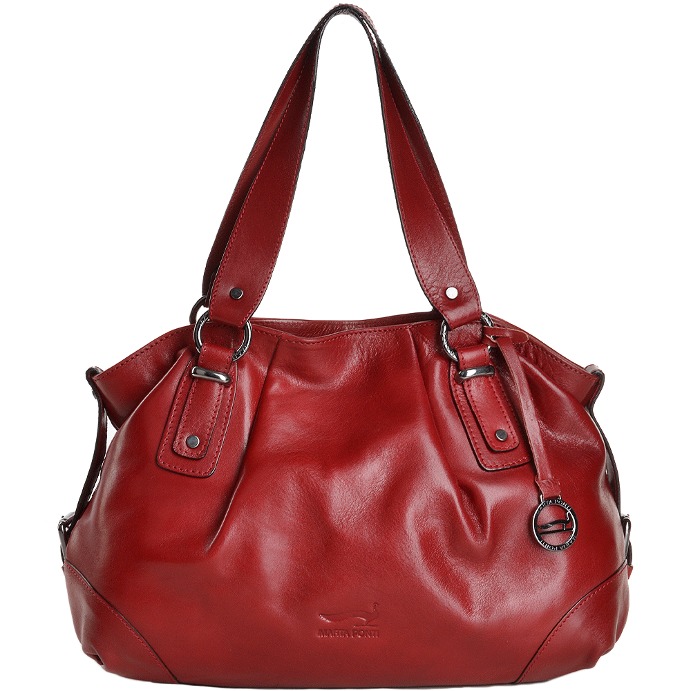 81f613ef3f9 Marta Ponti Medium Italian Leather Handbag Red - 8106002