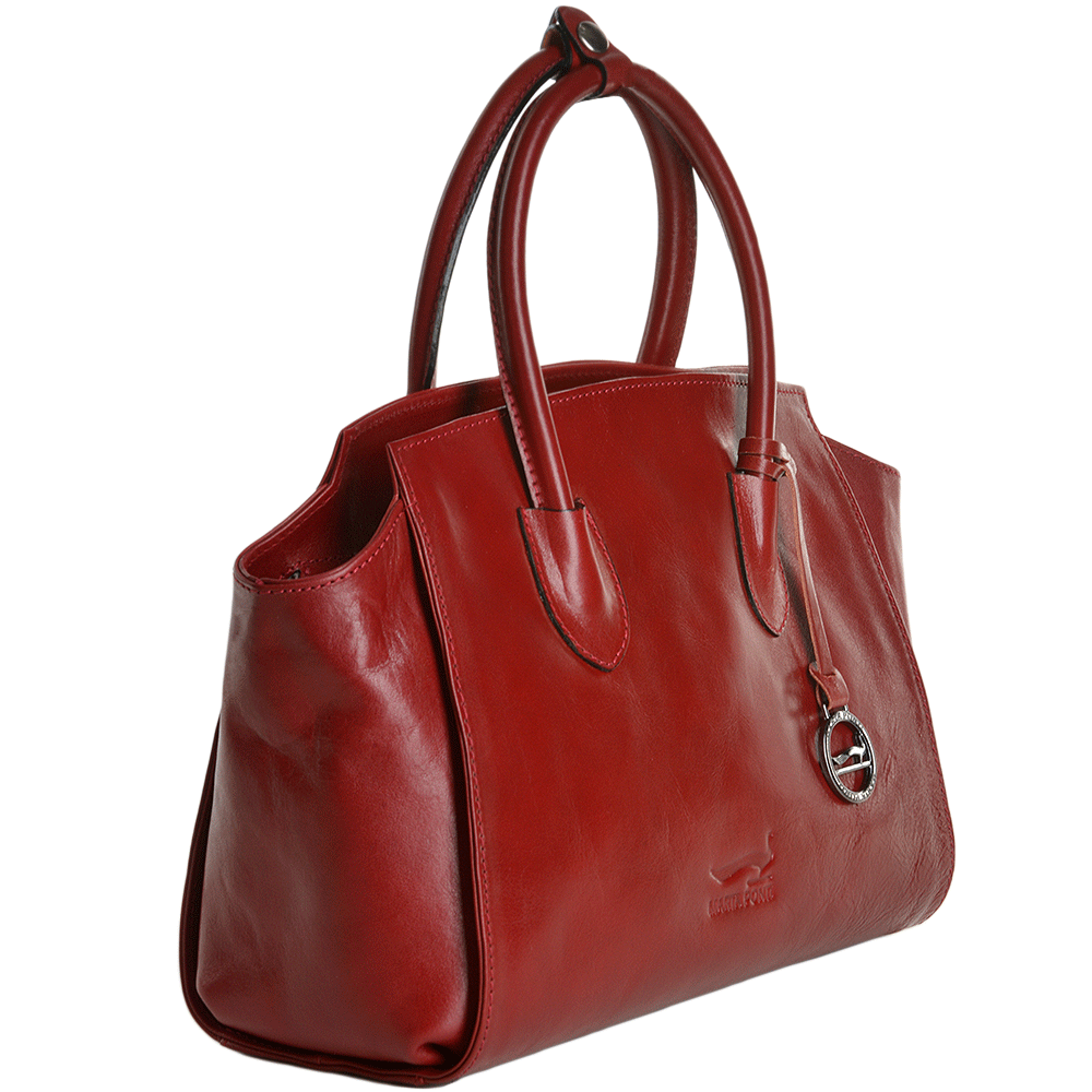 6119bb04101 ... Marta Ponti Medium Italian Leather Handbag Red - 8106053 new product  279cd 06dcb ...