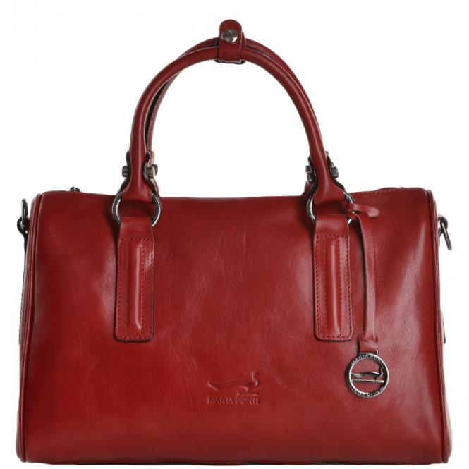 b5d2a0d258 Marta Ponti Medium Italian Leather Handbag Red - 8165861