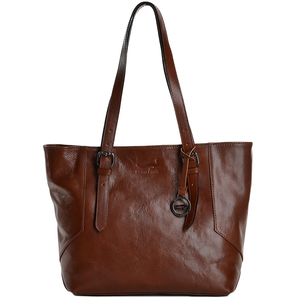 7b543fa84a4 ... Marta Ponti Medium Italian Leather Shopper Bag Cognac - 8106 super  popular f9a07 92010 ...