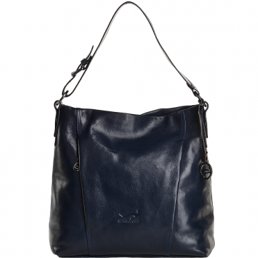 Medium Italian Leather Shoulder Bag Blue - 8105879