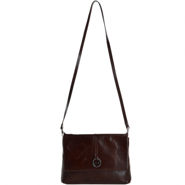 Marta Ponti Small Italian Leather Shoulder Bag Brown - 8106116