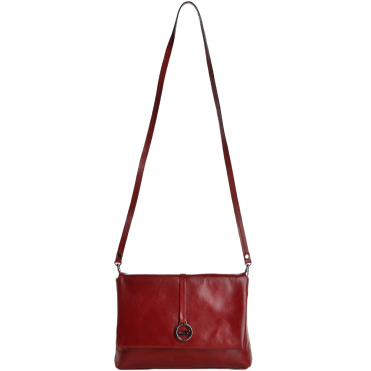 Marta Ponti Small Italian Leather Shoulder Bag Red - 8106116