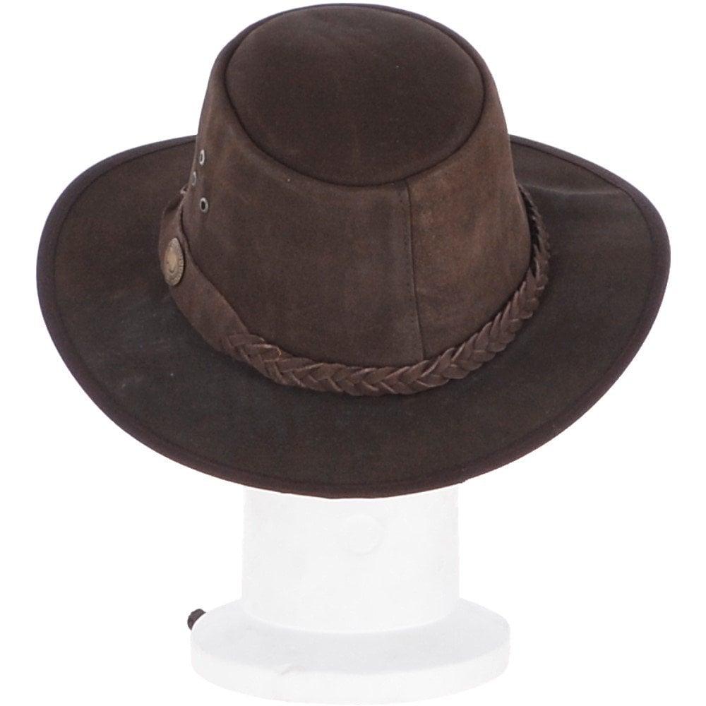 Australian bush hat brown genuine leather high quality hardwearing