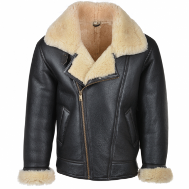 Sheepskin Flying Jacket Brn/cream : Luan