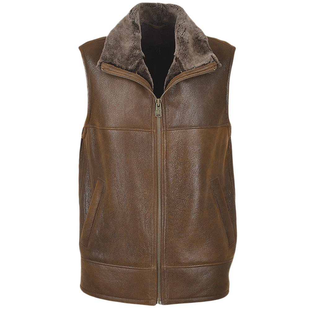 Mens Sheepskin Gilet Tobacco Norden Men S Sheepskin Jackets