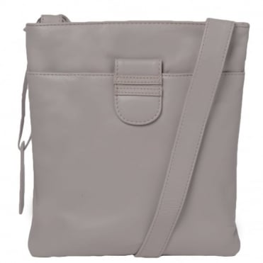Tab Small Zip Top Leather Cross Body Bag Lilac