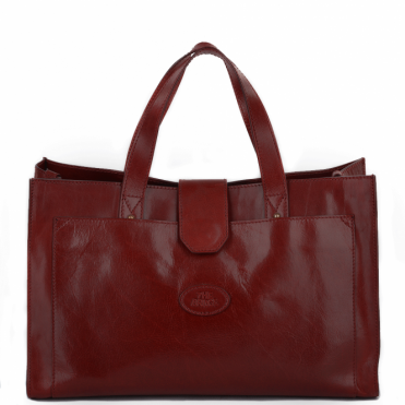 Italian Leather Handbag Red : 004424301 06