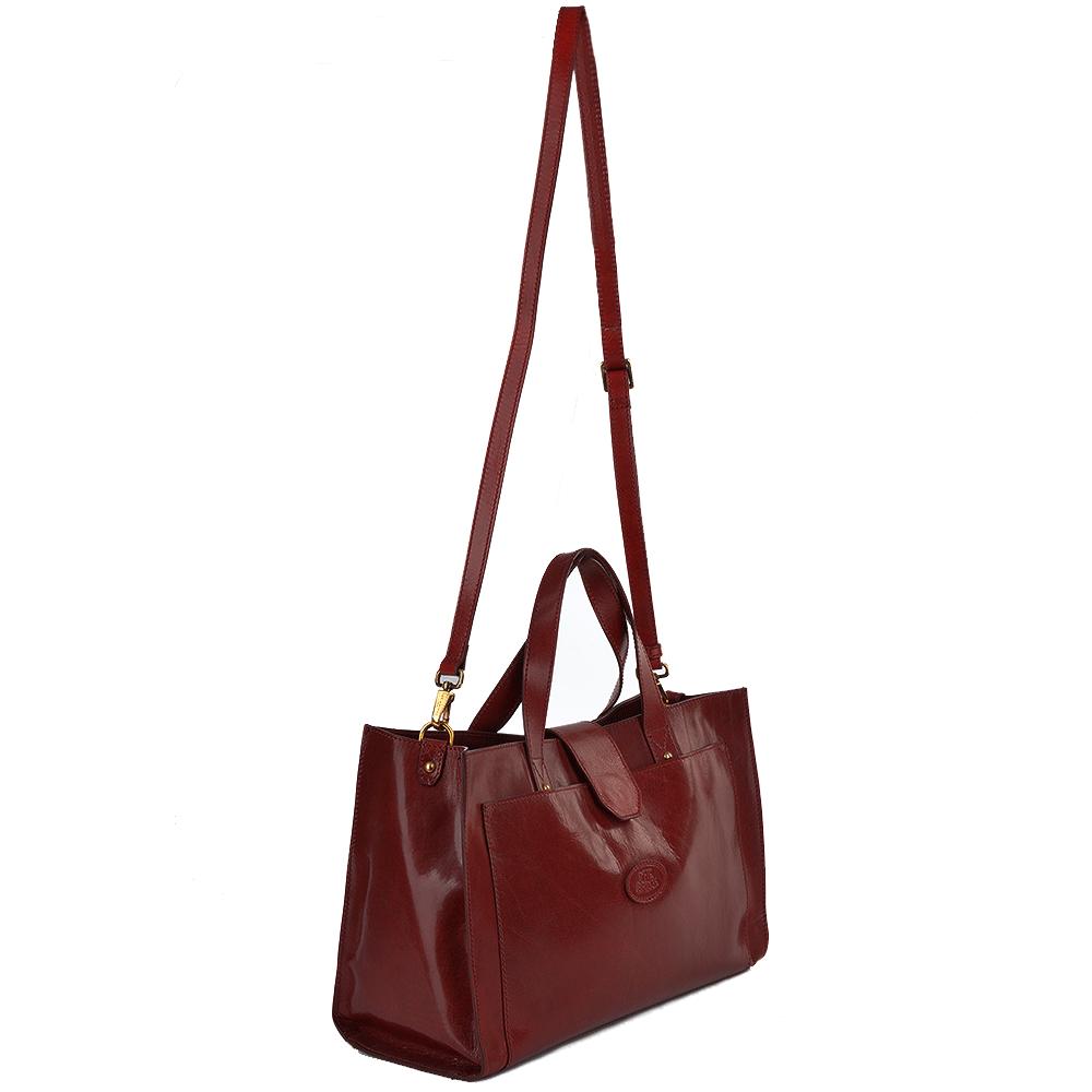 Italian Leather Handbag Red 004424301 06 Womens