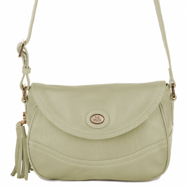 Leather Cross Body Bag Cream: 004432449 42