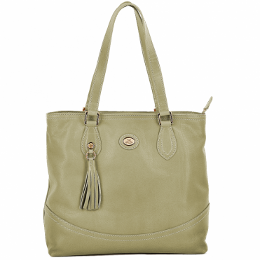 Leather Shopper Cream : 004438449 42