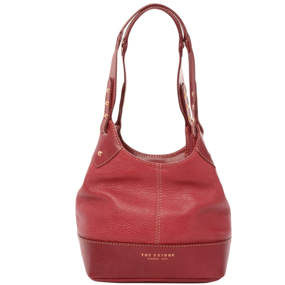 Womens Small Leather Bucket Bag Red 00406052f 2e