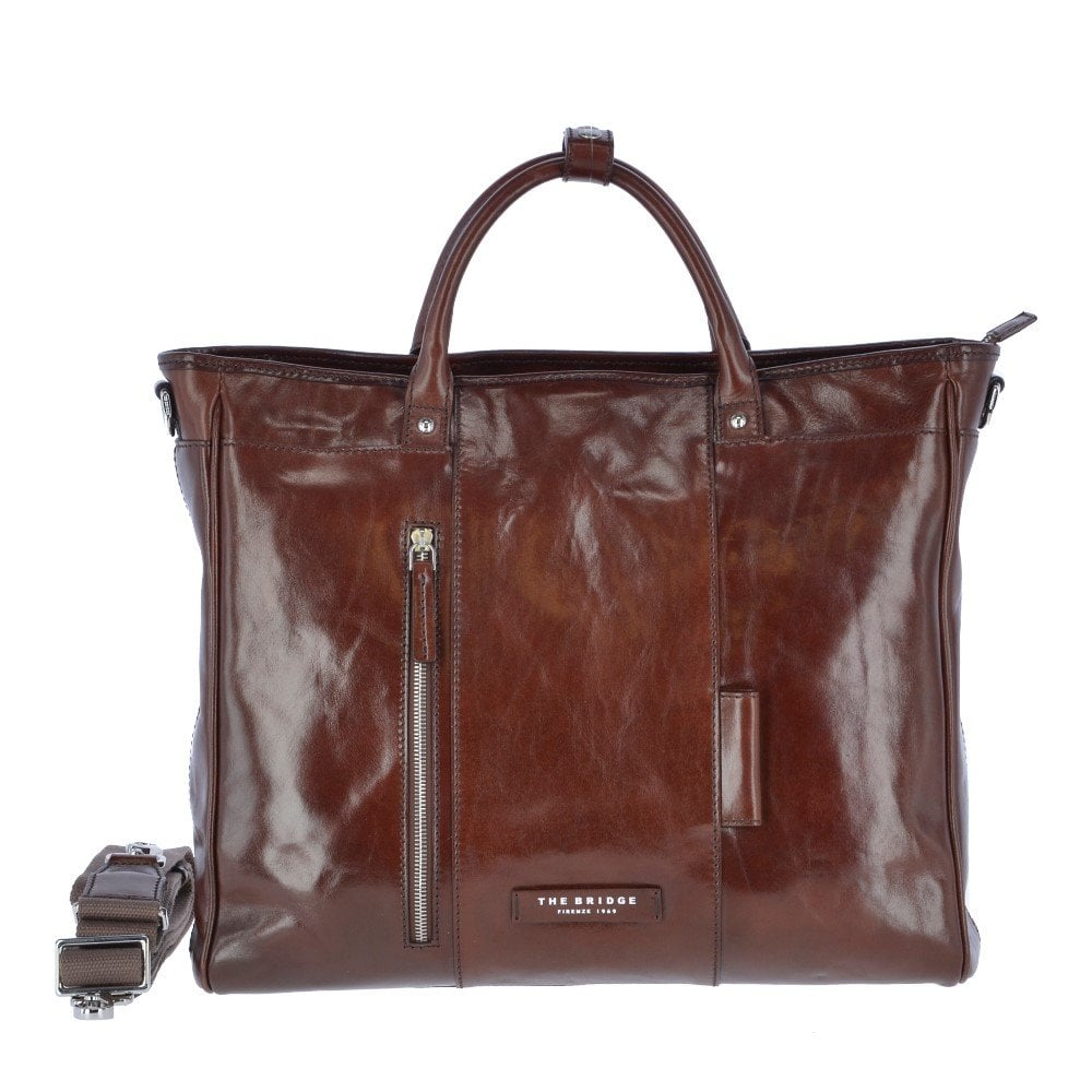 f0273984eaaa 3-in-1 Multi function Italian Leather Backpack and Work Bag Brown : 063626  01 69