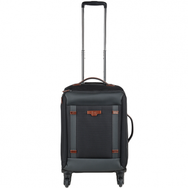 The Bridge B Go Italian 4 Wheeled Trolley Cabin Case Black/ Gunmetal - 071336 3L 5P NH