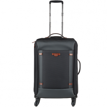 The Bridge B Go Italian 4 Wheeled Trolley Case Black/Gunmetal - 071346 3L 5P NH
