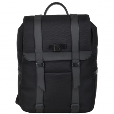 The Bridge B Go Italian Backpack with Black Leather Trim Detail - 061326 3L 86 NH