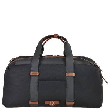 The Bridge B Go Italian Medium Cabin Holdall Black/ gunmetal - 071306 3L 5P NH