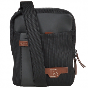 The Bridge B Go Italian Medium Flight Bag Black/ Gunmetal - 051306 3L 5P NH