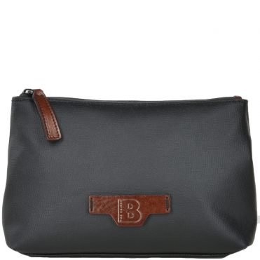 The Bridge B Go Italian Waterproof Wash Bag Black/brn/gunmetal - 091326 3Q 5Z NH