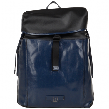 The Bridge B Hydro Large One Strap Italian Travel Rucksack Black/navy Blue/gunmetal - 061527 3Q 6W NH