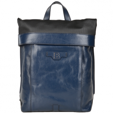 The Bridge B Hydro Medium Italian Travel Rucksack Black/navy Blue/gunmetal - 061517 3Q 6W NH